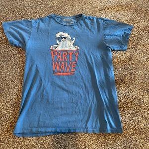 BILLABONG Party Wave T-Shirt (Medium) Blue